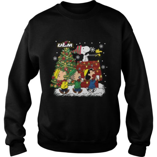 Louisiana Monroe Warhawks Snoopy and friends Christmas sweater shirt - Snoopyvvv 510x510
