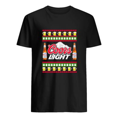 Coors Light Christmas sweatshirt shirt - coors light christmas sweater men s t shirt black front 400x400