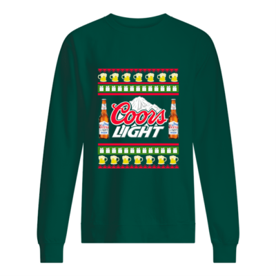 Coors Light Christmas sweatshirt shirt - coors light christmas sweater unisex sweatshirt bottle green front 400x400