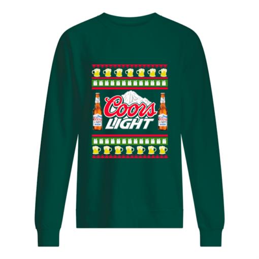 Coors Light Christmas sweatshirt shirt - coors light christmas sweater unisex sweatshirt bottle green front 510x510