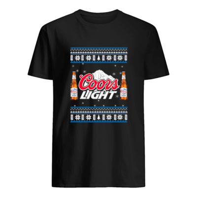 Coors Light Christmas sweatshirt shirt - coors light christmas sweatshirt men s t shirt black front 400x400