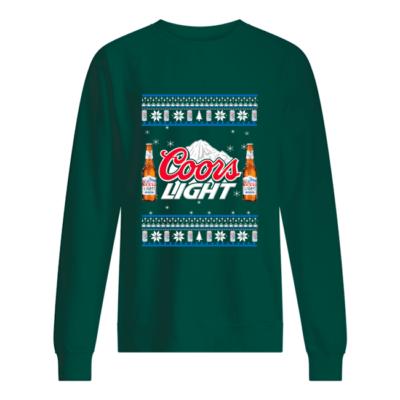 Coors Light Christmas sweatshirt shirt - coors light christmas sweatshirt unisex sweatshirt bottle green front 400x400