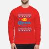 Modelo Beer Ugly Christmas sweatshirt shirt - corona ugly christmas sweatshirt unisex sweatshirt fire red front 1 100x100