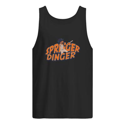Springer Dinger shirt shirt - springer dinger t shirt men s tank top black front 400x400