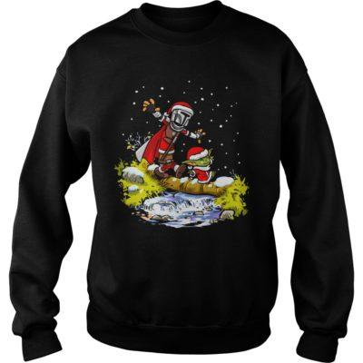Baby Yoda Star Wars Walking Under The Snow Christmas shirt shirt - Baby Yoda Star Wars Walking Under The Snow Christmas shi 400x400