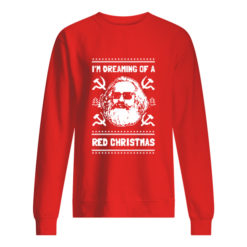 Karl Marx I'm dreaming of a red Christmas sweater shirt - s 1 247x247