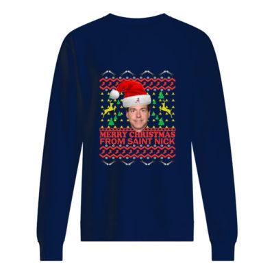 Nick Saban Christmas sweater shirt - tttttt 400x400