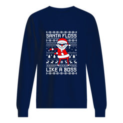 Santa Floss Like a Boss Christmas sweater shirt - wwwww 1 247x247