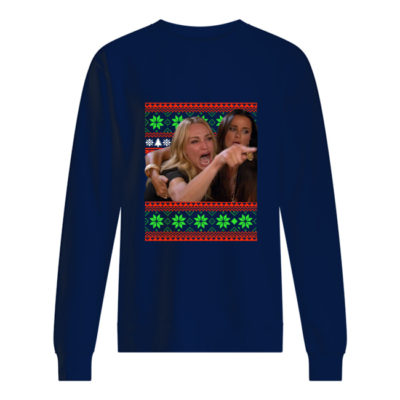 Woman Yelling At Cat Christmas sweater shirt - wwwww 400x400