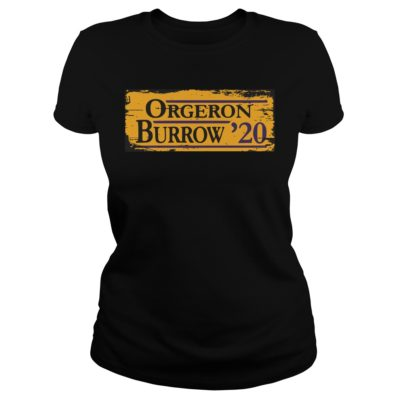 Orgeron Burrow 2020 shirt shirt - Available in a variety of styles and colors. Buy yours now before it is too late.v 400x400