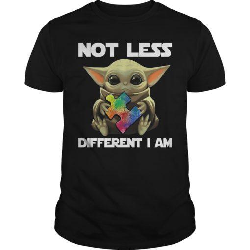 Baby Yoda hug autism not less different I am shirt shirt - baby yoda hug autism not less different i am shirtv 510x510