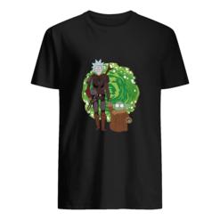 The Mandalorian Rick Sanchez and Baby Yoda t-shirt shirt - g 247x247