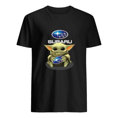 Baby Yoda hug Subaru t-shirt shirt - w 400x400