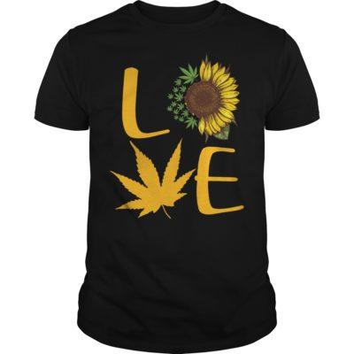 Sunflower and Cannabis love shirt shirt - Sunflower And Cannabis Love Shirt 400x400