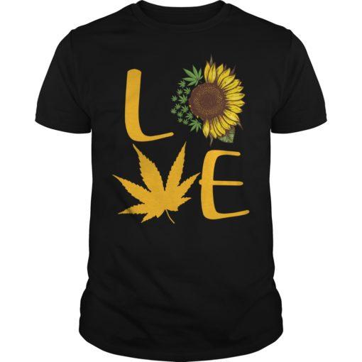 Sunflower and Cannabis love shirt shirt - Sunflower And Cannabis Love Shirt 510x510