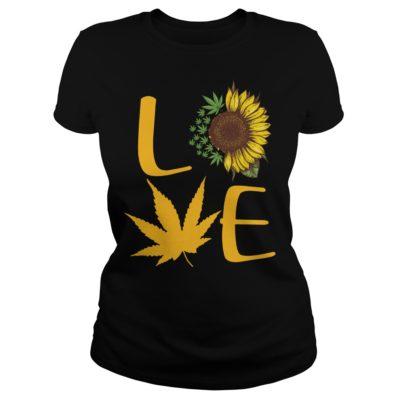 Sunflower and Cannabis love shirt shirt - Sunflower And Cannabis Love Shirt v 400x400