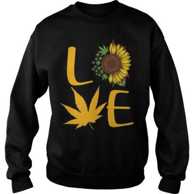 Sunflower and Cannabis love shirt shirt - Sunflower And Cannabis Love Shirt vvvvv 400x400