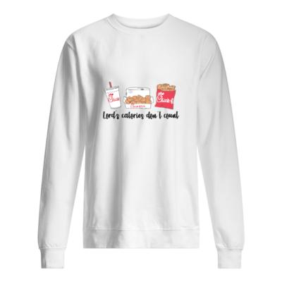 Lord's calories don't count Chick Fil A shirt shirt - lords calories dont count chick fil a t shirt unisex sweatshirt arctic white front 400x400