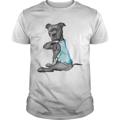 Pitbull dog I love Mom shirt shirt - pitbull dog 400x400