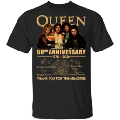 Queen 50nd anniversary 1970-2020 thank you for the memories shirt shirt - Queen 50nd anniversary 1970 2020 thank you for the memories shirt 247x247