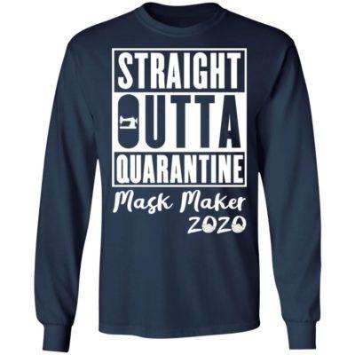 Straight outta quarantine mask maker 2020 shirt shirt - yy 400x400