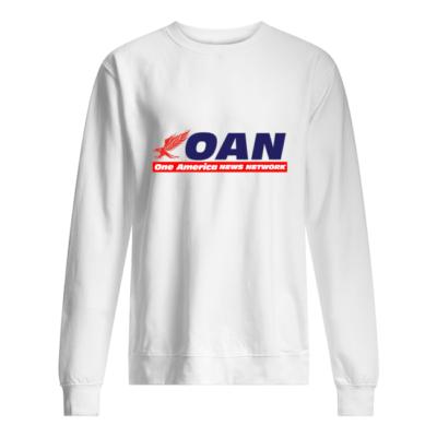 Mike Gundy OAN shirt shirt - mike gundy oan one america news network shirt unisex sweatshirt arctic white front 400x400