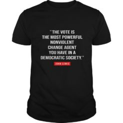 The vote is the most powerful nonviolent change agent shirt shirt - g 247x247