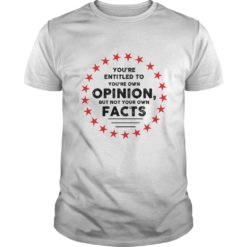 You're entitled to your own opinions but not your own facts shirt shirt - Youre entitled to your own opinions but not your own facts shirt 247x247
